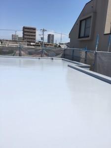 ベランダ・床防水上塗り施工後