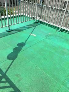 ベランダ・床防水下塗り施工後